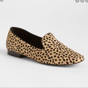 GAP   Cheetah Print Calf Hair Leather Loafers